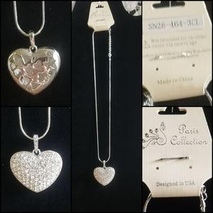 Paris Collection- Rhinstone Small Heart Bling